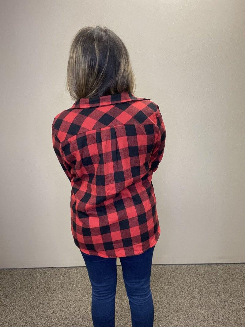 Buffalo Plaid Fleece Lined Shirt/Shacket