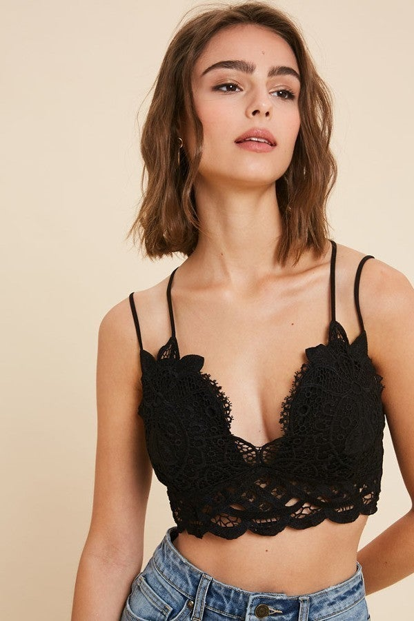 Double Lace Bralette by Wishlist