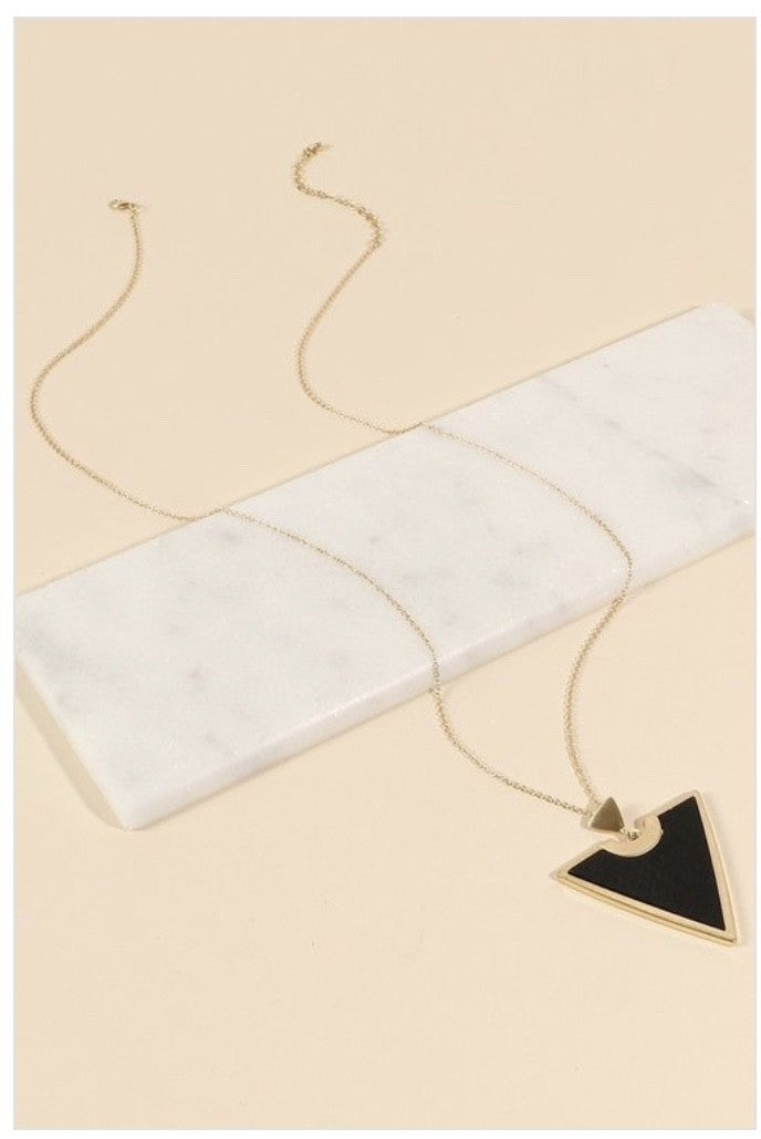 Triangle pendent necklace