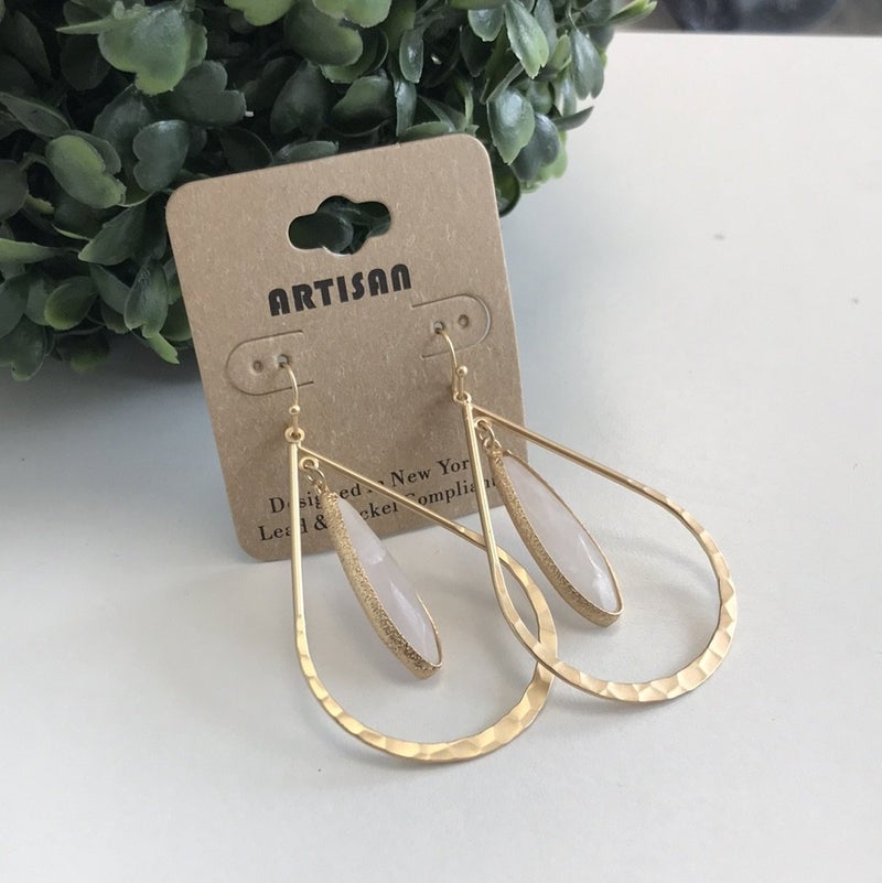 Layered Crystal Earring