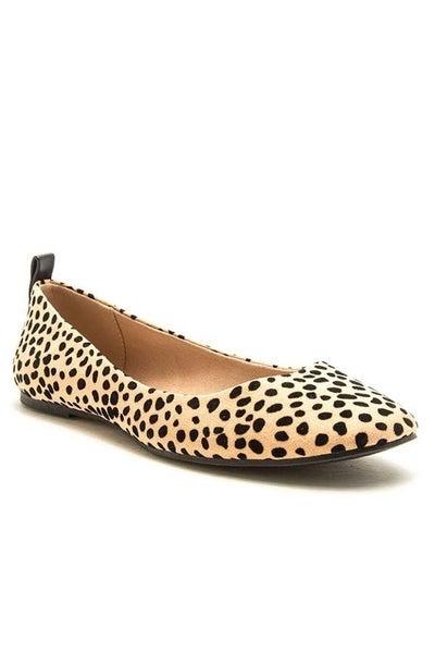 Cheetah Closed Toe Flat Shoe