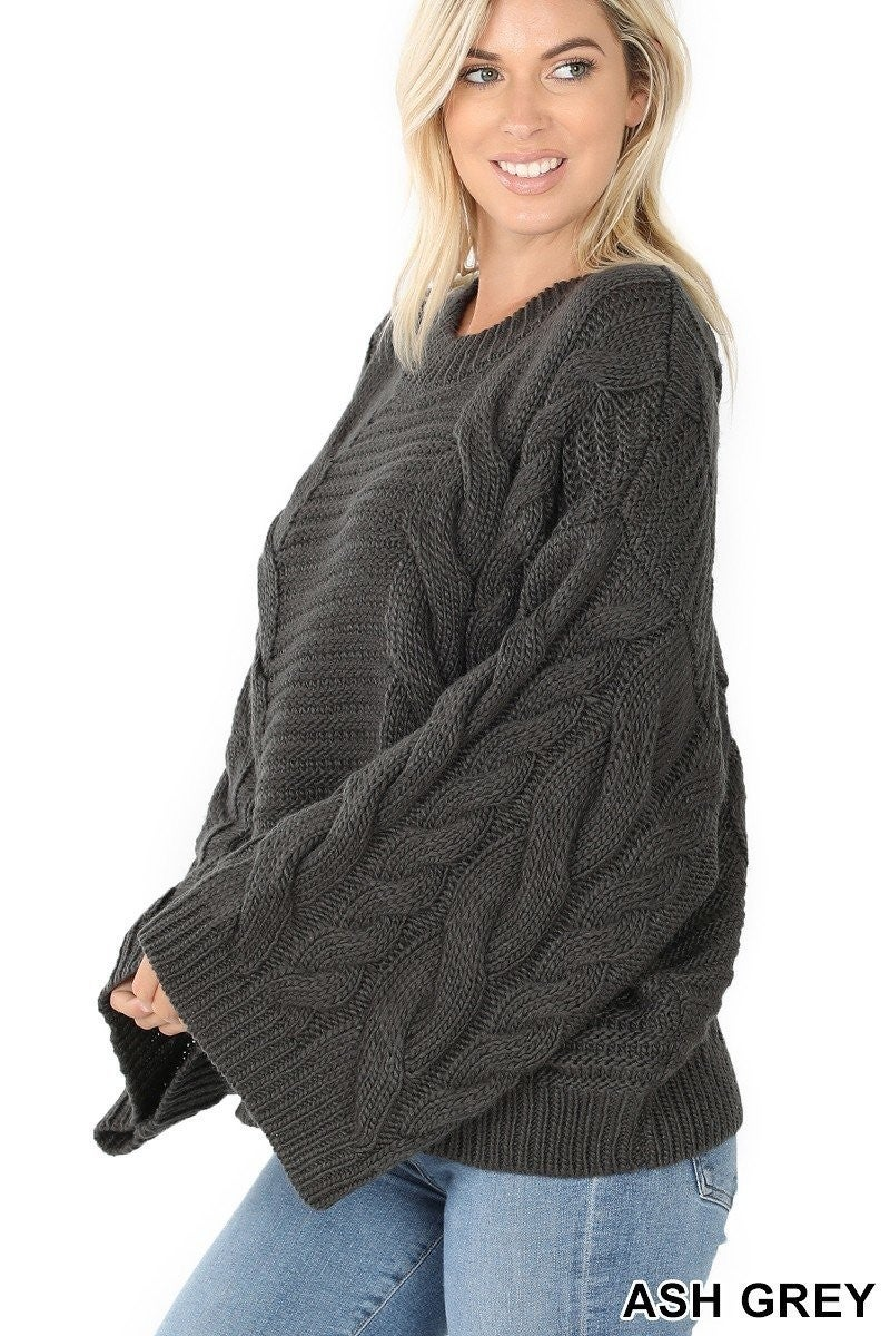 The Raquel Sweater in Charcoal
