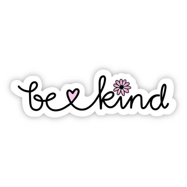 Be Kind Cursive Floral Sticker