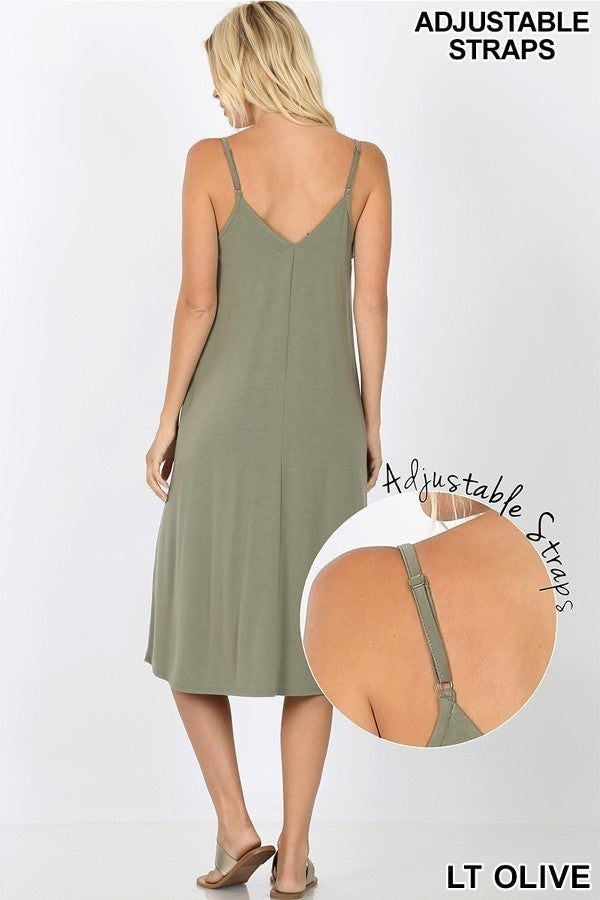 Simple Olive Dress (all sizes)