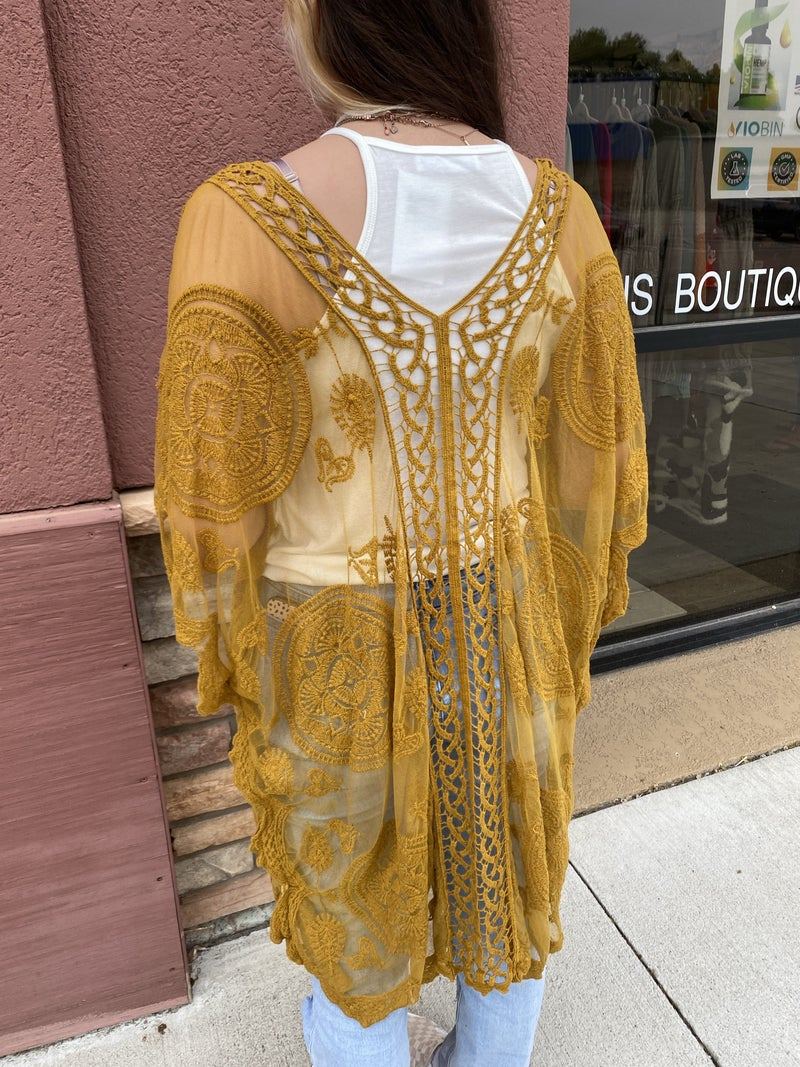 Sky Kimono (Black or Mustard)