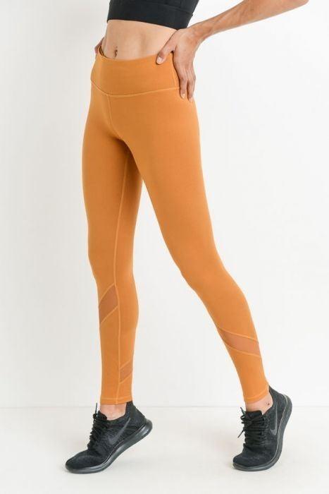 Makayla Mesh Panel Legging (Two Colors) by Mono B