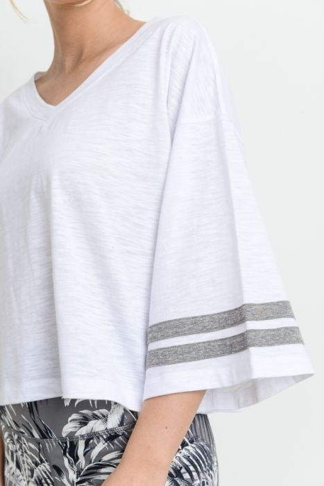 Oversized Cropped Top by Mono B (Multiple Colors)