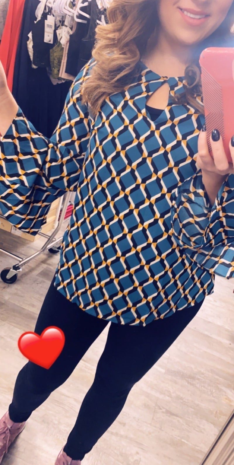 Geometrical Top with Bell sleeve