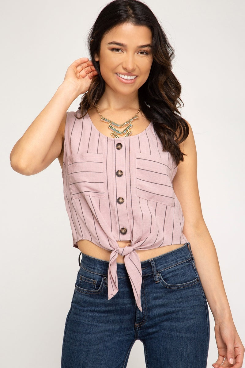Cropped Misty Pink Tank Top
