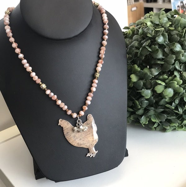 Suzan Beaded Chicken Necklace