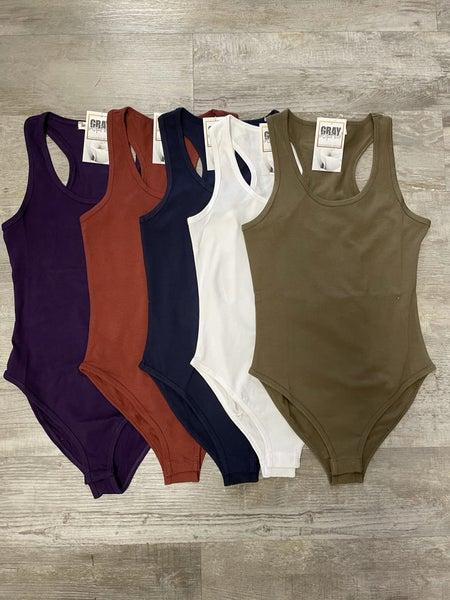 Everyday Bodysuit (White, Olive, Rust, Navy, Purple)
