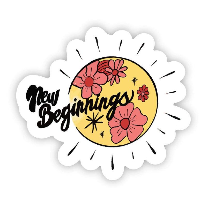 New Beginnings Sunshine Flower Sticker