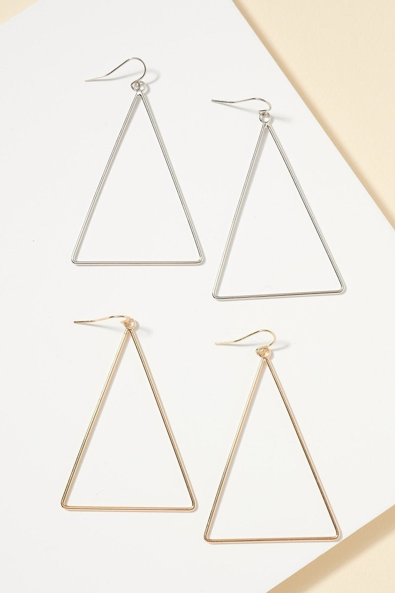 Simple Triangle Earring (2 Colors)