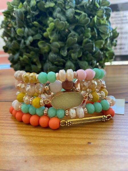 Becky Bright Colors Stack Bracelet Set
