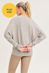Dolman-Sleeved Top(2 colors, curvy)