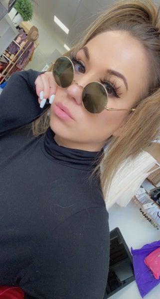 Lennon Retro Sunglasses in Green or Blue