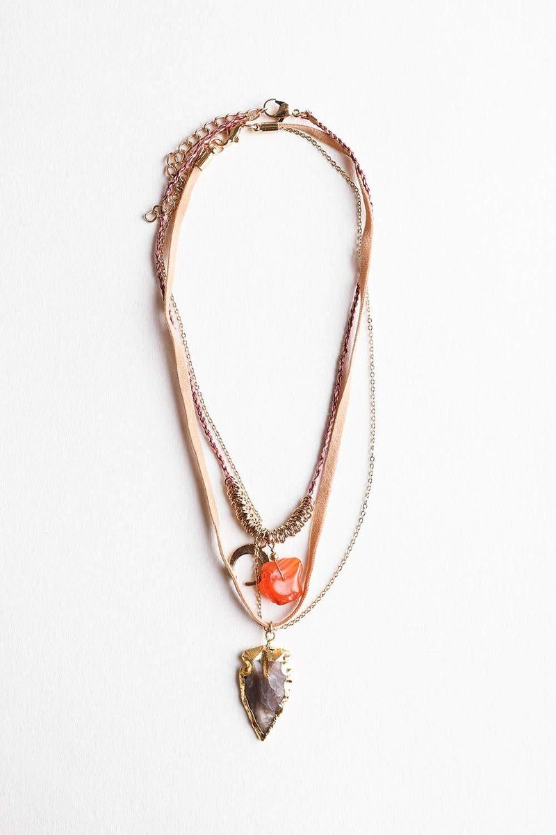 Arrowhead Layered Necklace 2 in 1