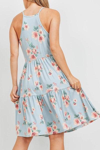 Floral Halter Top Dress
