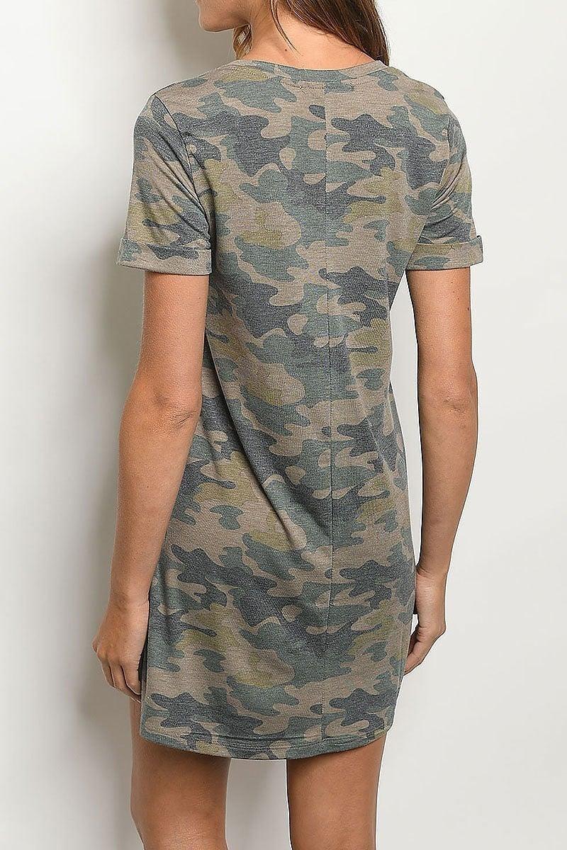 Peyton Camo T-Shirt Dress