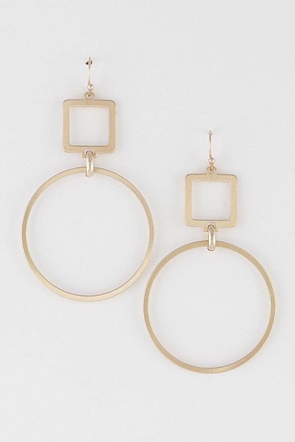 Gold or Silver Geometrical Earring