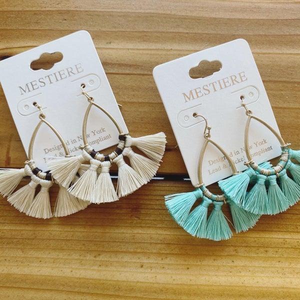 Fan Tassel Earring