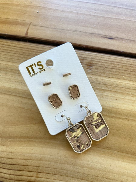 Cork Earrings (set of 3)