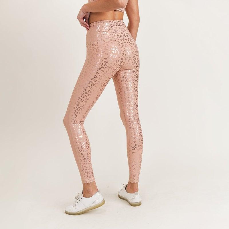 Leopard Foil Highwaist Legging