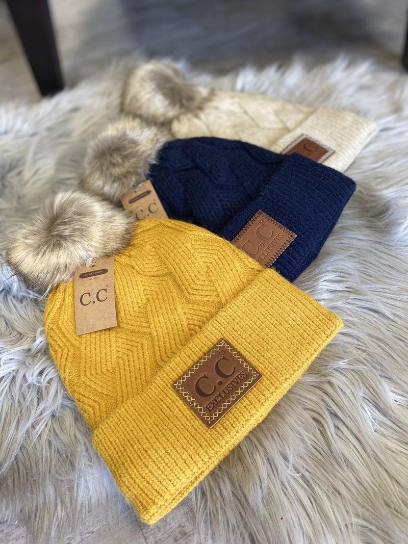 CC Cable Knit Beanie(multiple colors)