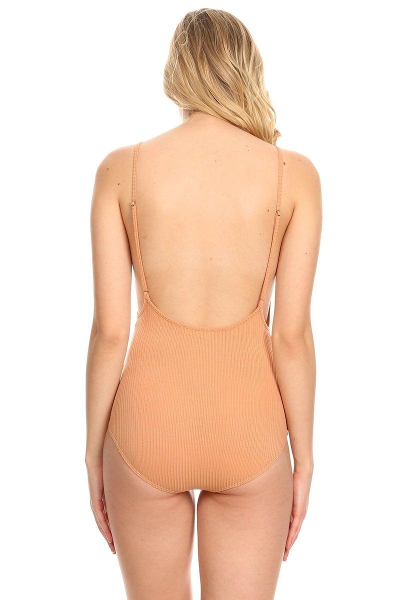 Megan Ribbed Bodysuit (2 Colors)