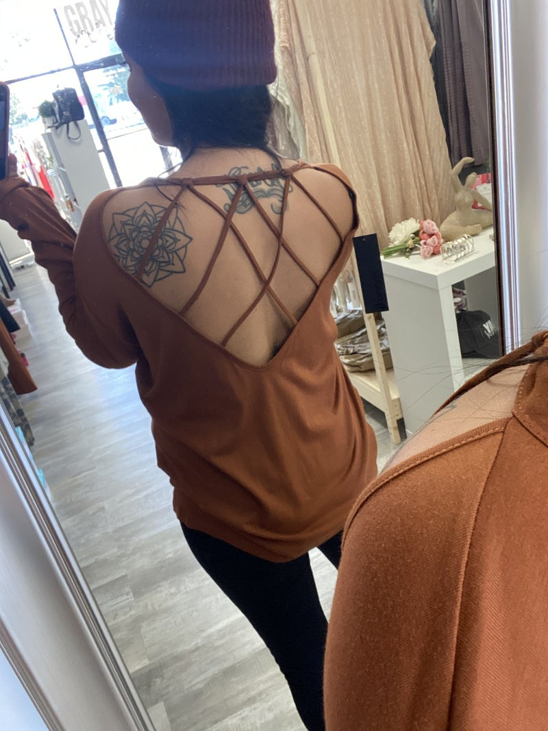 Rust Detailed Back Top by Mono B (LAST ONE)