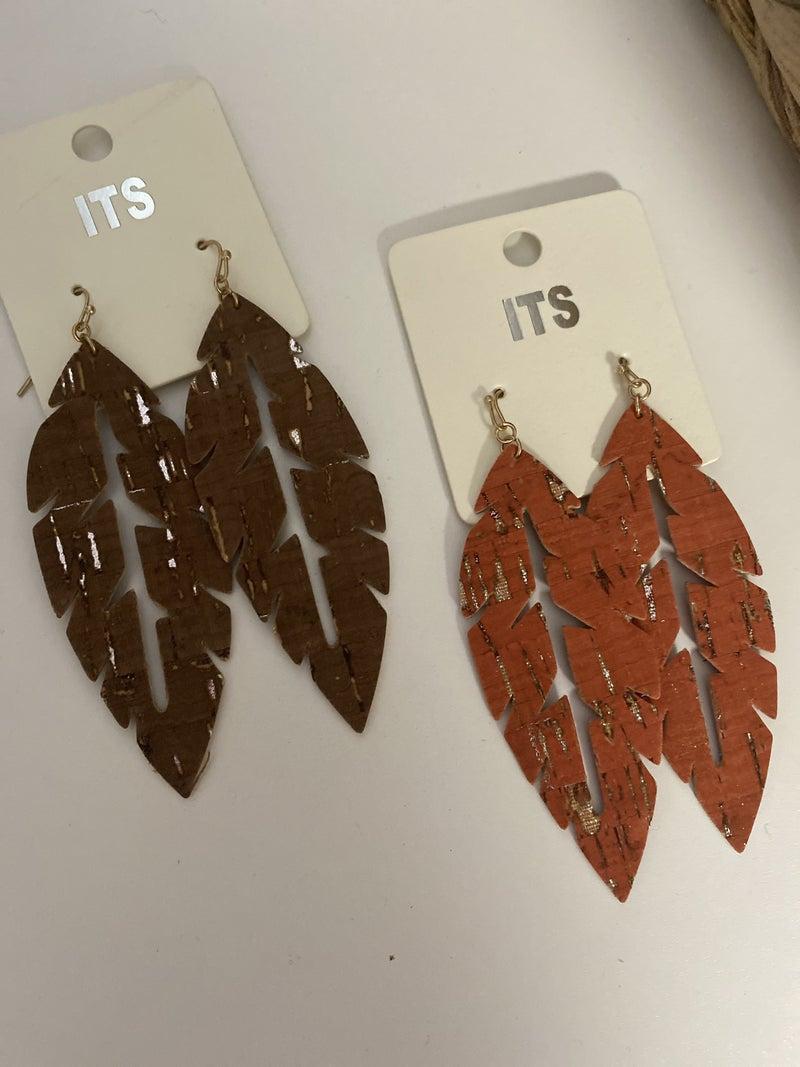 Leaf Earring (Multiple Colors)