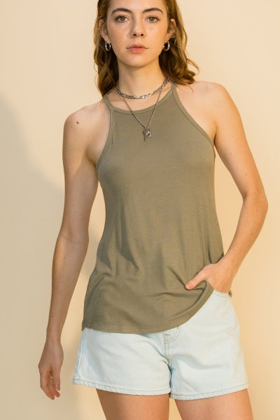 The Becca Halter Tank(multiple colors)