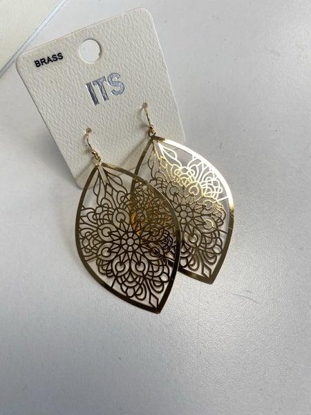 Mandela Gold Drop Earring