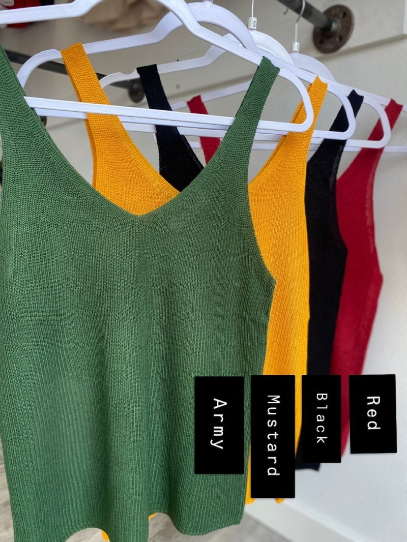 The Katie Basic Tank (Multiple Colors)