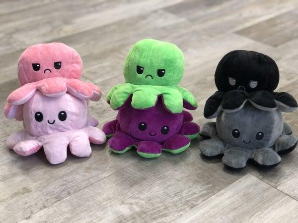 Reversible Octopus Plush(multiple colors)