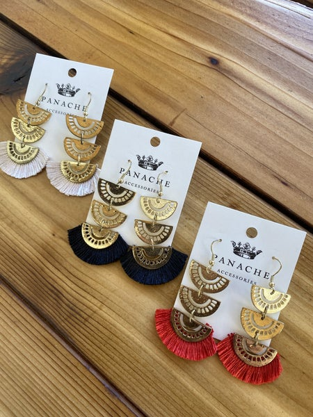 Tiered Earring with Fringe by Panache