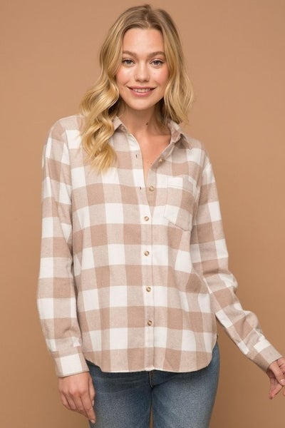Taupe Flannel by Hem + Thread
