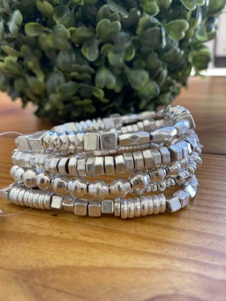 Silver Stack Bracelet