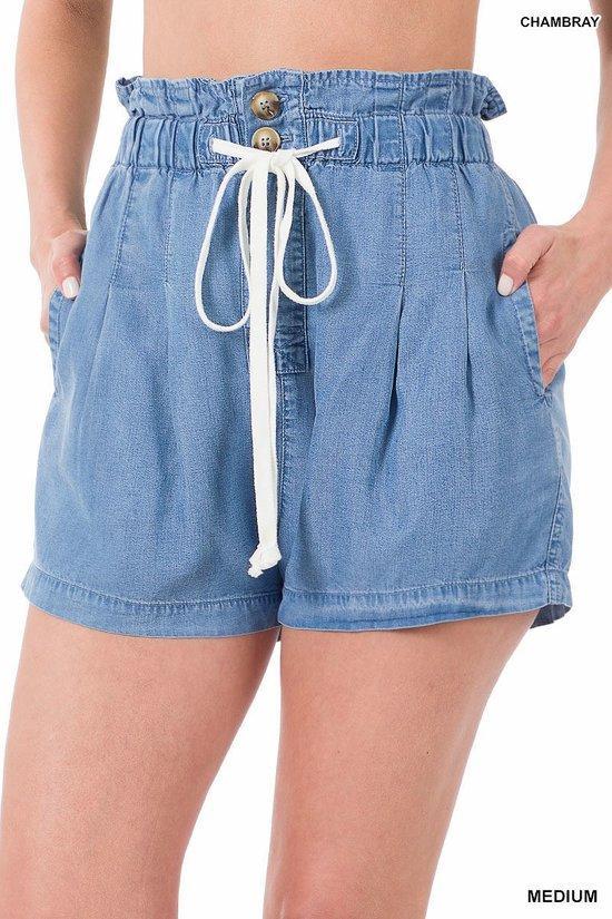 Sky Ruffled Shorts