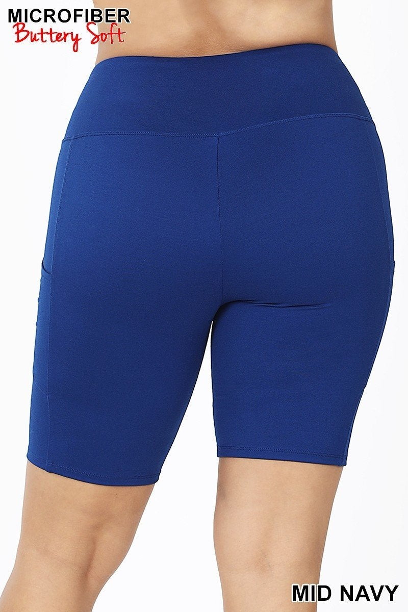 Plus Biker Shorts