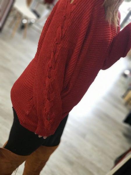 Red Sweater Dolman