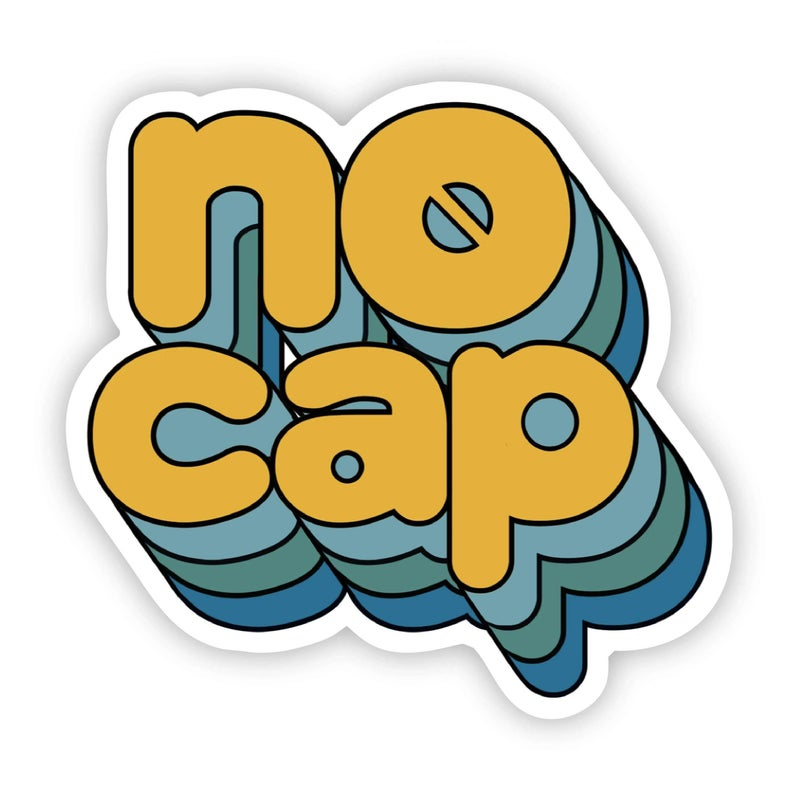 No Cap Multicolor Yellow Sticker