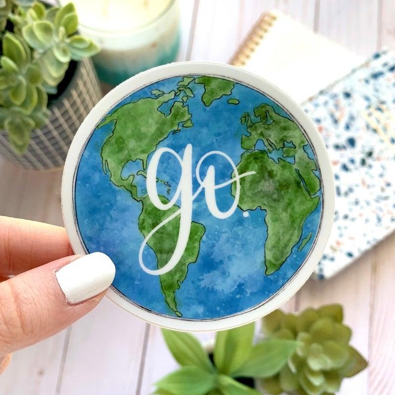Go Globe Sticker