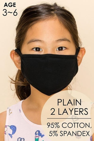 Childrens Mask in Black
