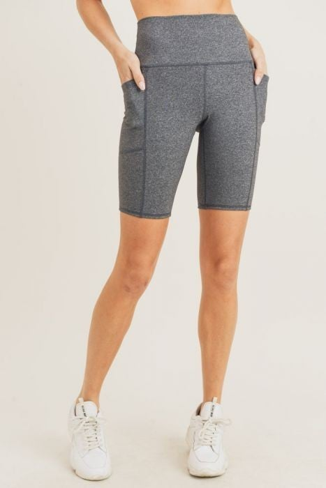 Rider Bermuda Style Short with Pockets by Mono B in Grey