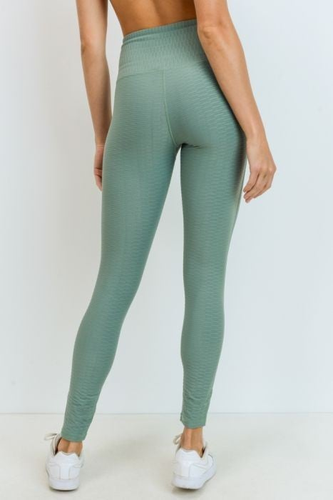 Green Ribbed Legging Bronze Edition by Mono B