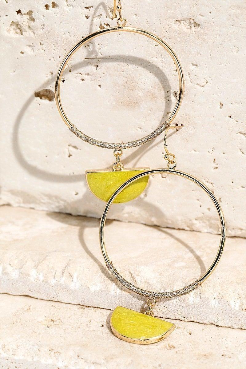 Dangle Hoop Earrings (Multiple Colors)