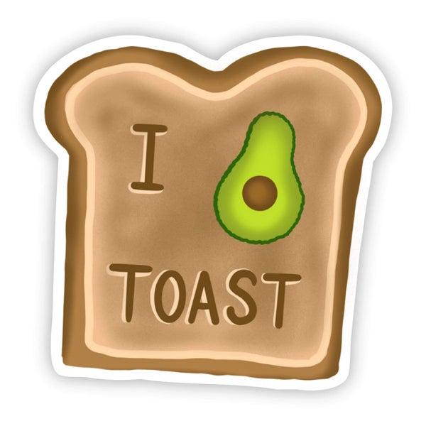 I Love Avocado Toast Sticker