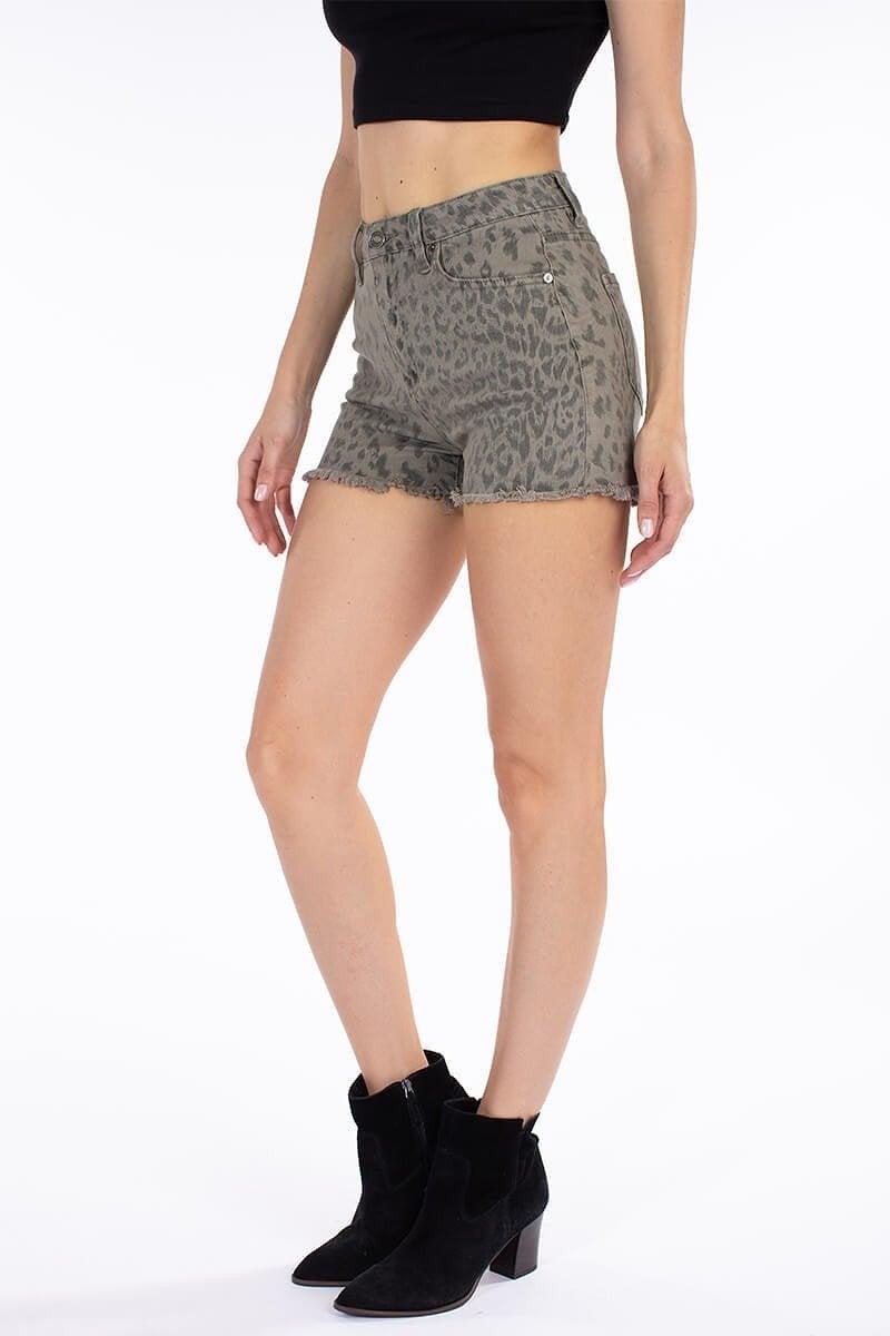 Leopard KanCan High Rise Shorts