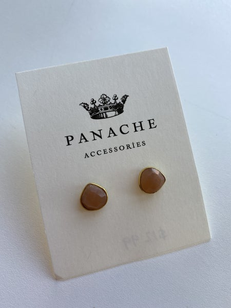 Peach Stone Stud by Panache